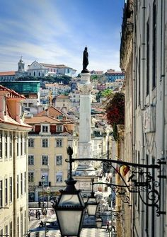 Charming streets and squares of old Lisbon. You wish to get lost here forever and just enjoy these rays of hot portuguese sun, aromas of freshly baked regional pastries, music on the streets and this ambient of a historical yet very modern Old Europe ca Visit Portugal, Spain And Portugal, Portugal Travel, Sintra Portugal, Places Around The World, Travel Around The World, Around The Worlds, Places To Travel, Places To See