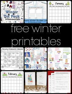 10 Free Winter Printables for Preschool to Third Grade
