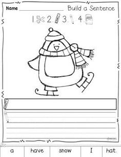 build a sentence {printables for winter}