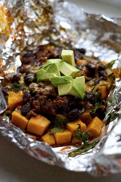 Sweet Potato Foil Pack Taco
