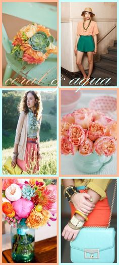 Need some coral colored flowers asap! Coral Aqua, Coral Color, Pastel Colors, Pink, Color Inspiration, Wedding Inspiration, Wedding Ideas, Color Combos, Color Schemes