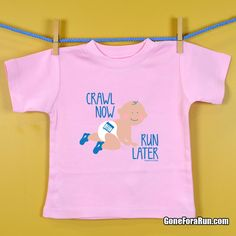 Running Baby tee for your future running buddy! #running #goneforarun