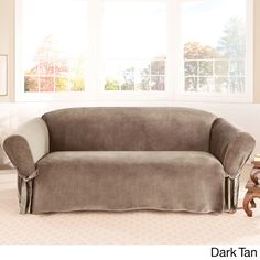 Sure Fit Soft Touch Velvet Sofa Slipcover - Overstock™ Shopping - Big Discounts on Sure Fit Sofa Slipcovers
