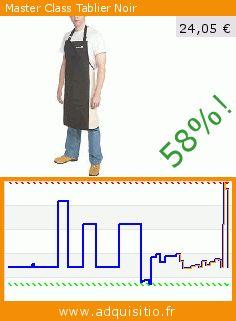 Master Class Tablier Noir (Cuisine). Réduction de 58%! Prix actuel 24,05 €, l'ancien prix était de 56,65 €. http://www.adquisitio.fr/kitchen-craft/master-class-tablier-noir