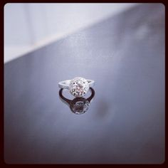Finished client engagement ring - can't wait for him to see it.