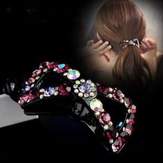 100.00$  Buy here - http://alim21.shopchina.info/1/go.php?t=32811255567 - Rhinestone bow knotted twist chuck hairdress hairpin hairpin horseshoe buckle banana clip horse tail folder female accessories  #bestbuy