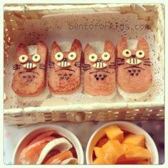 Totoro Themed Spam Musubi Bento - Bento For Kids