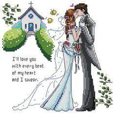 Free shipping 14 counted aida Cross stitch wedding kits KX016 100 x 99 stitches