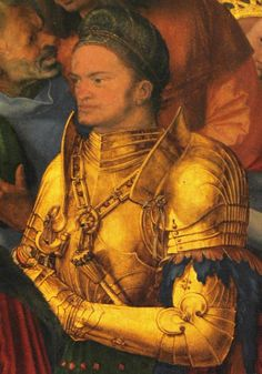 Gold Armor, 15th Century, Armour, Illustrations, Costumes, Shoulder, Image, Paladin, Masks