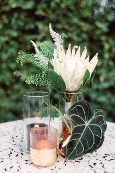 Modern Parker Palm Springs Wedding Bud Vases and Candles