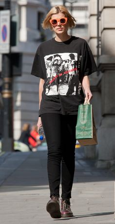 """The style """"Agyness Deyn Out & About in London"""" has been viewed 160 times. Neo Grunge, Grunge Style, Soft Grunge, Tomboy Fashion, Grunge Fashion, Love Fashion, Fashion Outfits, Fashion Design, Nail Fashion"""