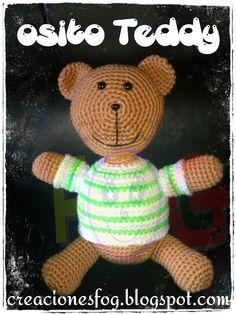 creaciones FOG: amigurumi osito Teddy