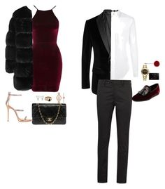 """""""Valentine Dinner date❣️"""" by ryna-weinberg on Polyvore featuring Oh My Love, Giuseppe Zanotti, Chanel, Brixton, Michael Kors, Givenchy, Burberry, BOSS Black, Prada and Salvatore Ferragamo"""