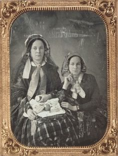 Mrs. Charles H. Rigdon and Mrs. John F. Altemus  ca. 1855, Daguerreotype by Thomas M. Easterly of St Louis, Mo.