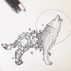 Resultado de imagen de geometric wolf …