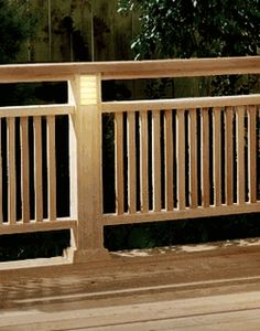 Deck railing ***Repinned by Normoe, the Backyard Guy (#1 backyardguy on Earth) Follow us on; http://twitter.com/backyardguy