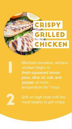 EASY Crispy Grilled Chicken Recipe