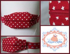 Red and white stars insulin pump belt with matching by KaijaSofia