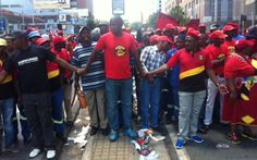 Hundreds of workers went on strike on Monday demanding salary hikes & better working conditions. South Africa, Conditioner, Sad