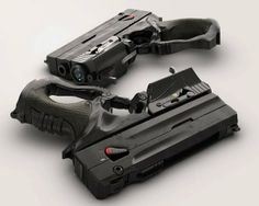 Weapon concepts by tipa_graphic , via Behance. Can't figure this gun out but I'll take one. Or two. Or three. Or.......