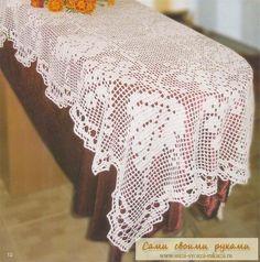 Crochet runner ♥LCD-MRS♥ with diagram, filet work.