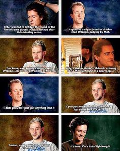 Billy Boyd and Orlando Bloom on Billy's birthday. He was already into the Hobbit role! We've had one birthday, yes, but what about second birthday?