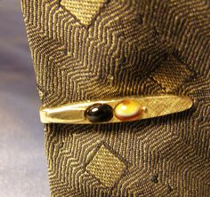986445bdc623 Items similar to vintage SWANK Tie Clip w a Black and Marble Stone, textured  gold Finish Tie Bar, Modern mens Fashion Jewelry, Groom or Husband Wedding  gift ...