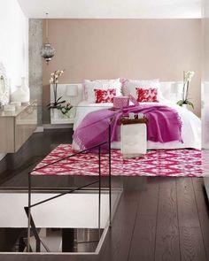 Schlafzimmer Bogen Farbschema-Pink Schwarz Weiß-Dekoartikel Ideen ...