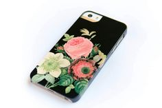 Floral iPhone 5 Case, Floral iPhone 5C, Floral iPhone4, Galaxy S4 Cover, Vintage Bouquet