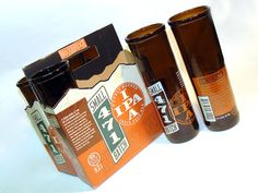 Six pack of Recycled 471 Small Batch Beer Bottle Drinking Glasses / 12oz / Dishwasher safe  $45.  House Warming Gift??