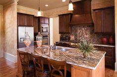 Frank Betz Associates Inc. Heritage Pointe Kitchen. #hardwoodfloors, #moderncabinetry, #kitchenisland