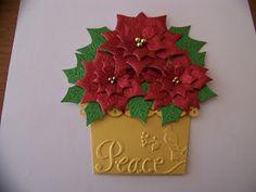 Ann Greenspan's Crafts: Poinsettia flower pot card