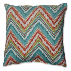 Pillow Perfect Chevron Cherade Throw Pillow | from hayneedle.com