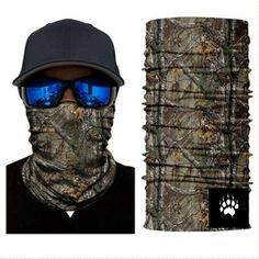 Camouflage Mask Bandana Balaclava Hunting Fishing Outdoor Military Breathing NEW UK Camping Survival, Bass Fishing, Fish Mask, Jungle Tree, Half Face Mask, Balaclava, Military Army, Models, Neck Scarves