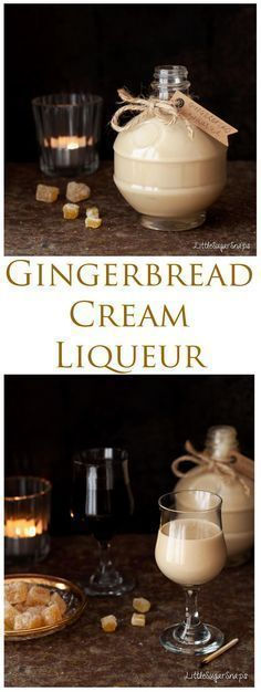 Gingerbread Cream Liqueur is deeply warming and comforting This smart winter tipple blends spice-infused rum and fresh cream in a way that is hard to resist Treat yourself or a loved one to a bottle this winter Click the image for more info. Homemade Alcohol, Homemade Liquor, Homemade Liqueur Recipes, Homemade Baileys, Homemade Limoncello, Cream Liqueur, Non Alcoholic Drinks, Beverages, Fresh Cream