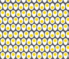 retro huevos fabric by lkglioness on Spoonflower