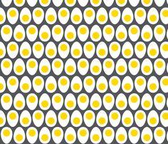 retro huevos fabric by lkglioness on Spoonflower - custom fabric