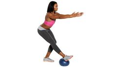 Tone up from head to toe with these moves using an exercise ball to target your abs, arms, butt, and thighs and improve your balance.