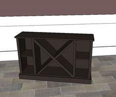 DIY Big X Wine Cabinet Base