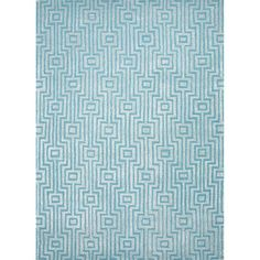 Hand-tufted Contemporary Geometric-pattern Blue Textured Rug (5' x 8') | Overstock.com Shopping - Great Deals on JRCPL 5x8 - 6x9 Rugs