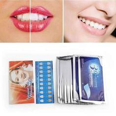28 Pieces / 14 Pair Gel White Teeth Whitening Strips Tooth Kit Dental Oral Hygiene CARE OF False Teeth Orthodontics Dentist S. Teeth Whitening Cost, Teeth Braces, Stained Teeth, First Tooth, White Teeth, Oral Hygiene, Orthodontics, Vacation