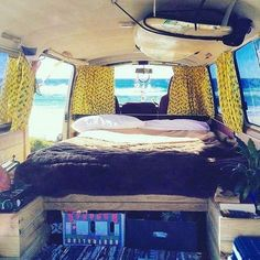 647ce9d820 Let s bum in the sun traveling in this! Campervan Interior