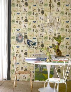 Flora and Fauna wallpaper by John Derian for Designers Guild
