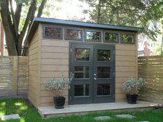 Jazz 6'x 10' #1 Backyard Storage Sheds, Backyard Sheds, Backyard Patio Designs, Outdoor Sheds, Outdoor Rooms, Backyard Office, Garden Office, Retro Beach House, Pool Shed