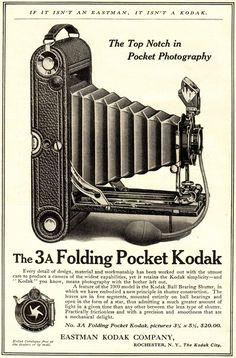 Kodak No Folding Pocket Camera Old Cameras, Vintage Cameras, Vintage Ads, Vintage Images, History Of Photography, Vintage Photography, Photography Tools, Film Photography, Street Photography
