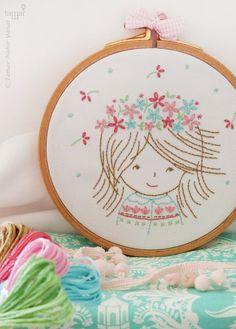 Embroidery Kit Craft supply  Birthday Girl by TamarNahirYanai
