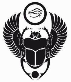 TATUAJES DE SÍMBOLOS SATÁNICOS | Belagoria | la web de los tatuajes Egyptian Eye Tattoos, Egyptian Tattoo Sleeve, Egyptian Drawings, Egypt Tattoo, Egyptian Scarab, Egyptian Symbols, Ancient Egyptian Art, Buddha Tattoos, Body Art Tattoos