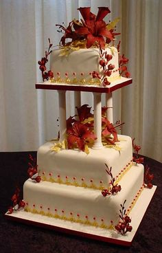 how to stack a three tier fruit wedding cake by cake divas was inspired by the s burgundy and 16156