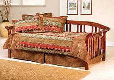 Hillsdale Furniture Dorchester Daybed in Dark Cherry with Free Mattress