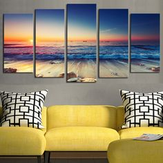 Cheap wall pictures, Buy Quality picture for home directly from China decorative painting Suppliers: 5 panels(No Frame)The Seaview Modern Home Wall Decor Painting Canvas Art HD Print Painting Canvas Wall Picture For Home Decor Living Room Pictures, Home Pictures, Pictures To Paint, Painting Pictures, Canvas Pictures, Print Pictures, Wall Canvas, Canvas Art, Painting Canvas